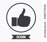 like sign icon. thumb up sign....   Shutterstock .eps vector #448375456