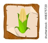 corncob vector illustration | Shutterstock .eps vector #448375720