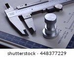 vernier caliper measuring | Shutterstock . vector #448377229