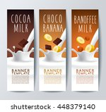 flavored milk banner template   ... | Shutterstock .eps vector #448379140