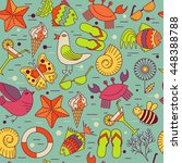 vector seamless patterns for... | Shutterstock .eps vector #448388788