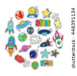 space patches set colorful... | Shutterstock .eps vector #448391134