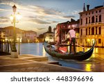 grand canal in sunset time ... | Shutterstock . vector #448396696