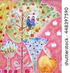 original bright background with ... | Shutterstock . vector #448397590