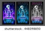 set of 3 illustrations... | Shutterstock .eps vector #448398850