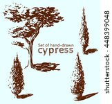 Set Of Hand Drawn Cypress....