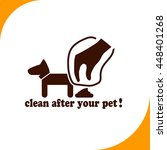 clean after pet sign. brown...
