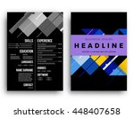 geometric cover background ... | Shutterstock .eps vector #448407658