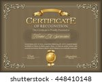 certificate of recognition... | Shutterstock .eps vector #448410148