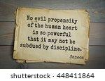 quote of the roman philosopher... | Shutterstock . vector #448411864