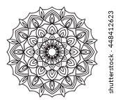 beautiful vector mandala. black ...   Shutterstock .eps vector #448412623