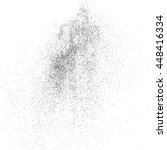 black grainy texture isolated... | Shutterstock .eps vector #448416334