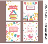 set of vector card templates... | Shutterstock .eps vector #448416700