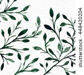 flower watercolor. background... | Shutterstock . vector #448420204