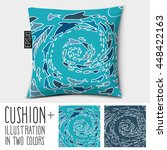 design vector pillow  cushion . ... | Shutterstock .eps vector #448422163