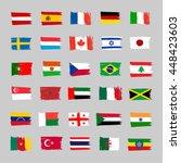 set of 30 flags   grunge   Shutterstock .eps vector #448423603
