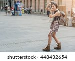 Pretty Young Female Tourist...