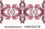 seamless border with pink... | Shutterstock .eps vector #448433278