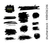 grunge ink vector background... | Shutterstock .eps vector #448436146