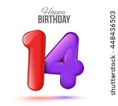 sample greeting card to the 14...   Shutterstock . vector #448436503