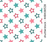 seamless pattern with stars. | Shutterstock .eps vector #448438528