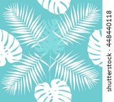 leaves of palm tree. tropical... | Shutterstock .eps vector #448440118