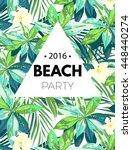 bright hawaiian design with... | Shutterstock . vector #448440274