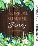 bright hawaiian design with... | Shutterstock . vector #448440304