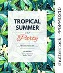 bright hawaiian design with... | Shutterstock . vector #448440310