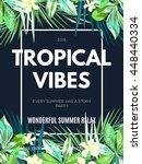 bright hawaiian design with... | Shutterstock . vector #448440334