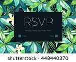 wedding invitation and card... | Shutterstock . vector #448440370
