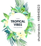 bright hawaiian design with... | Shutterstock . vector #448440823