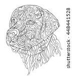 zentangle cute dog. hand drawn... | Shutterstock .eps vector #448441528