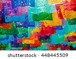 traditional mexican paper... | Shutterstock . vector #448445509