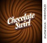 milk chocolate swirl background ... | Shutterstock .eps vector #448445620