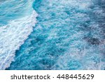 blue sea surface view | Shutterstock . vector #448445629