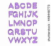vector violet alphabet abc... | Shutterstock .eps vector #448448773