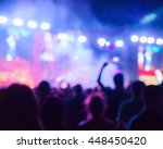 blurred youth music festival of ... | Shutterstock . vector #448450420