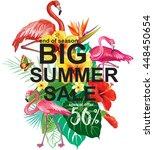 template for summer sale... | Shutterstock .eps vector #448450654
