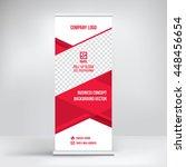 banner roll up design  business ... | Shutterstock .eps vector #448456654