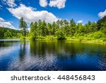 Lake At Bear Brook State Park ...