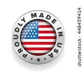proudly made in usa vector... | Shutterstock .eps vector #448459414