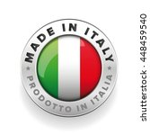 made in italy button | Shutterstock .eps vector #448459540