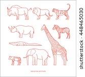 savanna animals | Shutterstock .eps vector #448465030