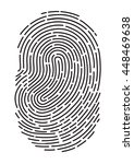 vector black isolated... | Shutterstock .eps vector #448469638
