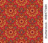 seamless pattern ethnic... | Shutterstock .eps vector #448477684