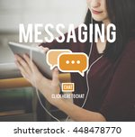 messaging texting connection... | Shutterstock . vector #448478770