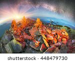 bivouac extreme riders on the... | Shutterstock . vector #448479730