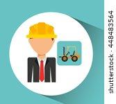 industry construction... | Shutterstock .eps vector #448483564