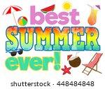 best summer ever concept in... | Shutterstock .eps vector #448484848